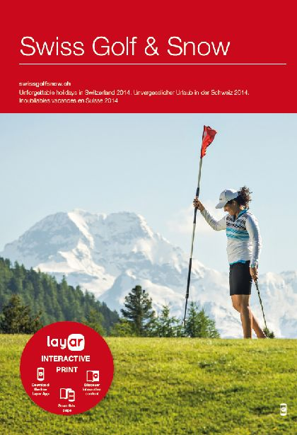 The guide showcases the best courses, resorts, hotels and more for the ultimate snow and golf vacation in Switzerland. 60,000 copies were produced and distributed to over 35 countries around Europe with the help of Move Communications. Scan with @Layar to see relevent fun content!
