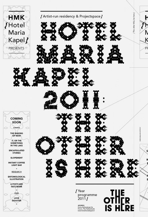 Sinds 1416 | Graphic Design & Visual Research | Graphic Design | Hotel Maria Kapel