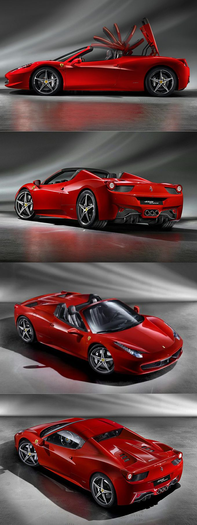 2011 Ferrari 458 Spider / 560hp 4.5l V8 / Red / Italy / 17