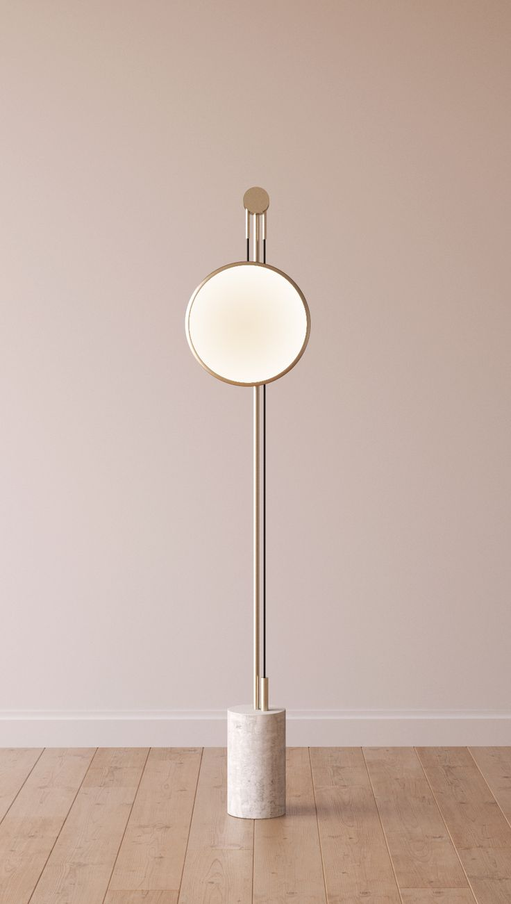 Matching floor and table lamps - Roche Bobois Soledad Floor Lamp Adjustable Height Aluminium And Steel Structure With Marble Base