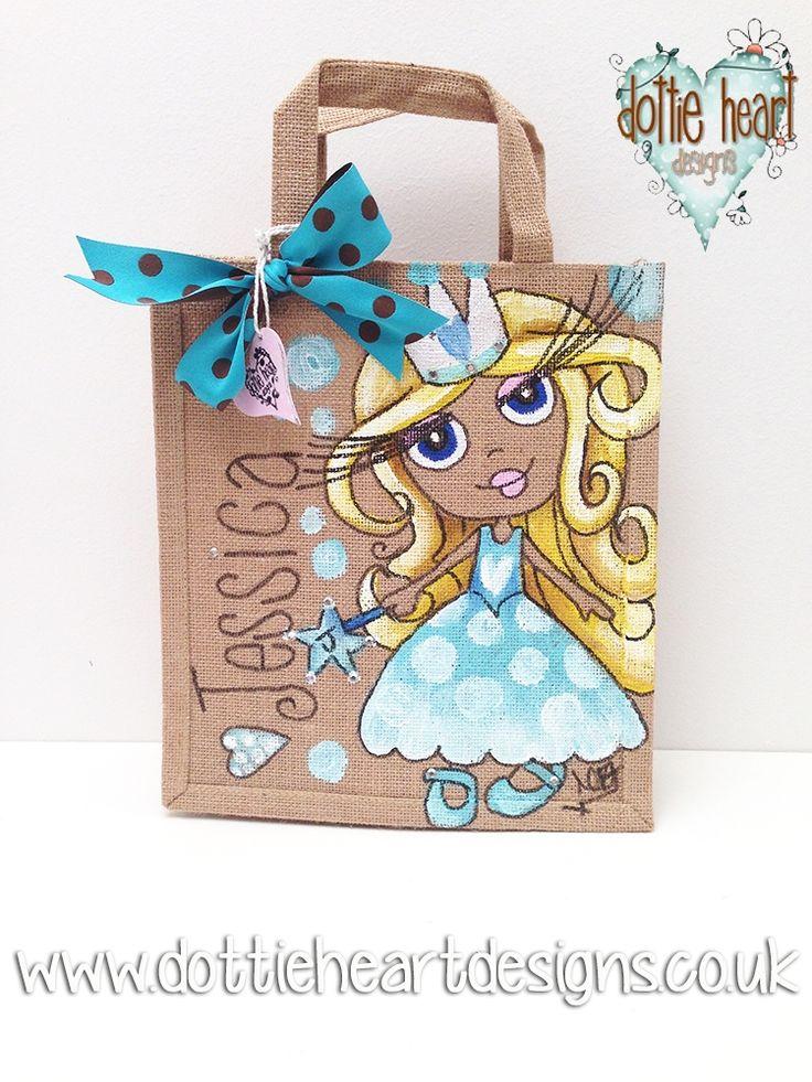 Personalised hand painted kids Jute Bag