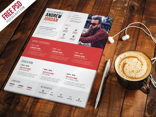 25+ Best Creative Resume For Graphic Designers (PSD File & Ideas With Examples)  http://www.ultraupdates.com/2014/08/graphic-design-resume/  #Creative #Resume #Graphic #Web #Designers