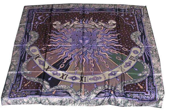 "Gloria Soli a/k/a Carpe Diem (from <a href=""http://piwigo.hermesscarf.com/picture?/1820/category/140-purple"">HSCI Hermes Scarf Photo Catalogue</a>)"
