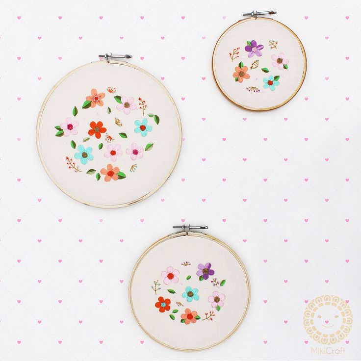 Floral Embroidery hoops