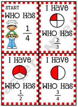 I Have, Who Has? . . . fractions