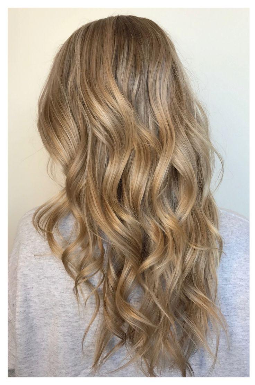 Gorgeous blonde color blend. Low-maintenance balay…