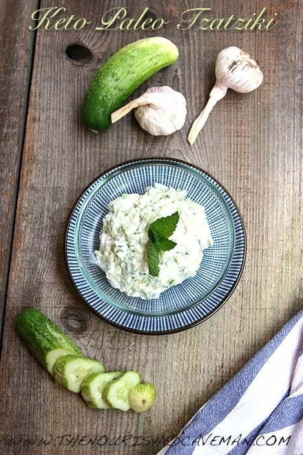 Keto Paleo Tzatziki By The Nourished Caveman - A Keto Paleo Tzatziki recipe that is very close to the original Greek Tzatziki! Enjoy it as a side dish or as a condiment.