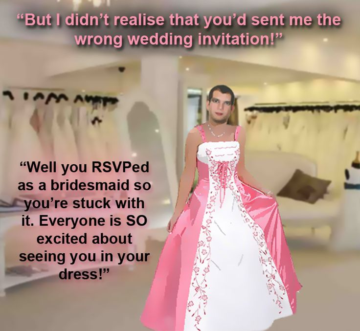Femdom Sissy Forced Feminization Art | tim didn t notice the wedding invite was actually meant for one of the ...