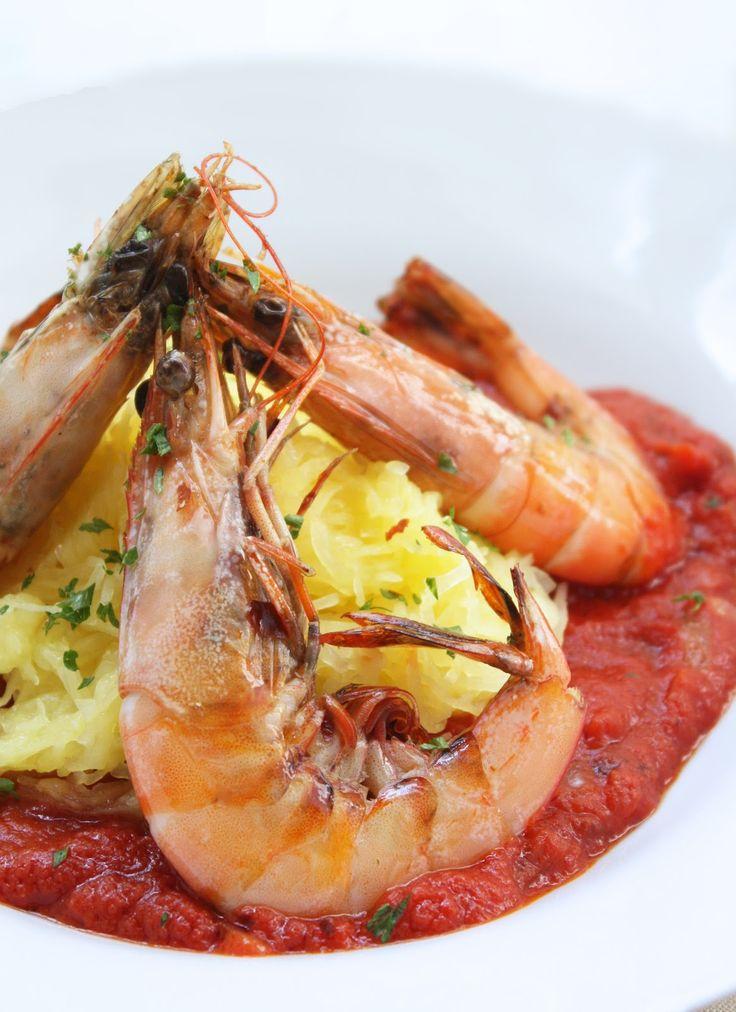 Shrimp Fra Diavolo with Spaghetti Squash (low carb, keto, paleo) | I Breathe... I'm Hungry...