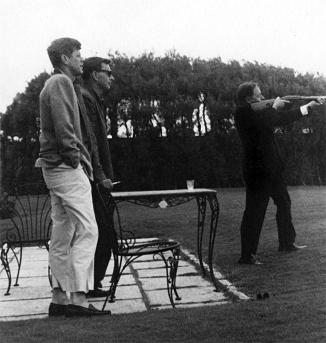 Image result for A photo of JFK shooting with Tennessee Williams