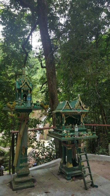 Little temples at namuang waterfall