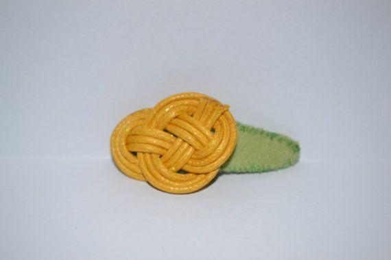 Haarclipje geel op Etsy, 2,00€