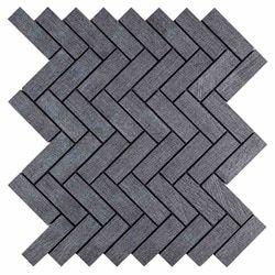 Herringbone Mosaic Tile Lava Grey 1×3 – Farmhouse