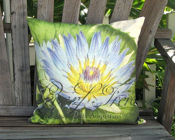 Lecerf Waterlily Pillow  French Cottage Pillow  by artanlei, $35.00