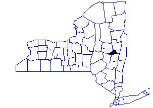 [Map showing location of Schenectady County in New York State]