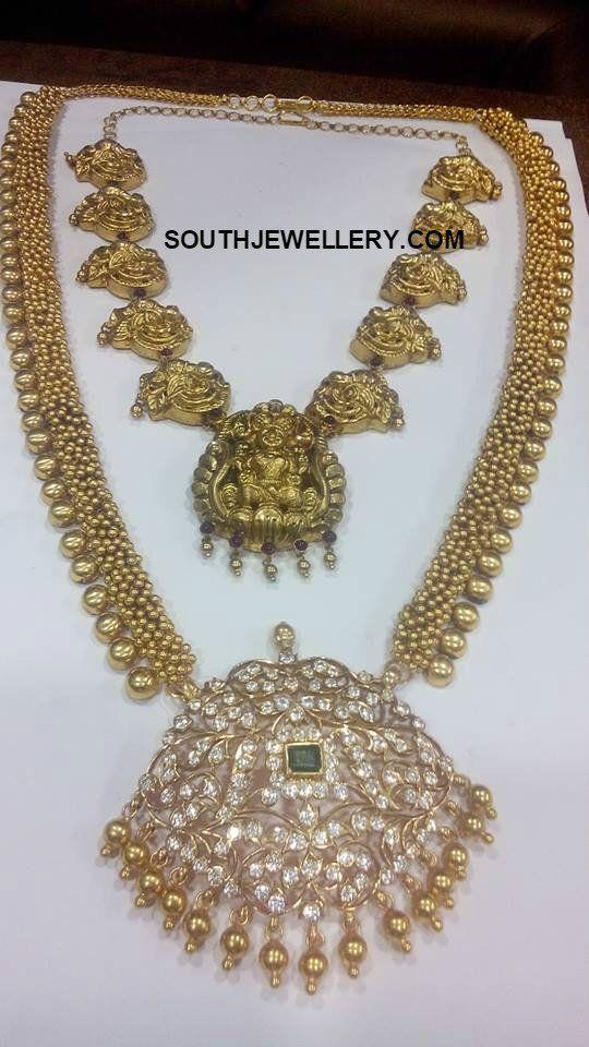 Antique Gold Haram with Diamond Pendant photo