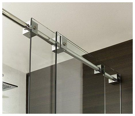 modern shower doors | ... shower doors Contemporary Shower by Blu Bleu new Light Shower Art