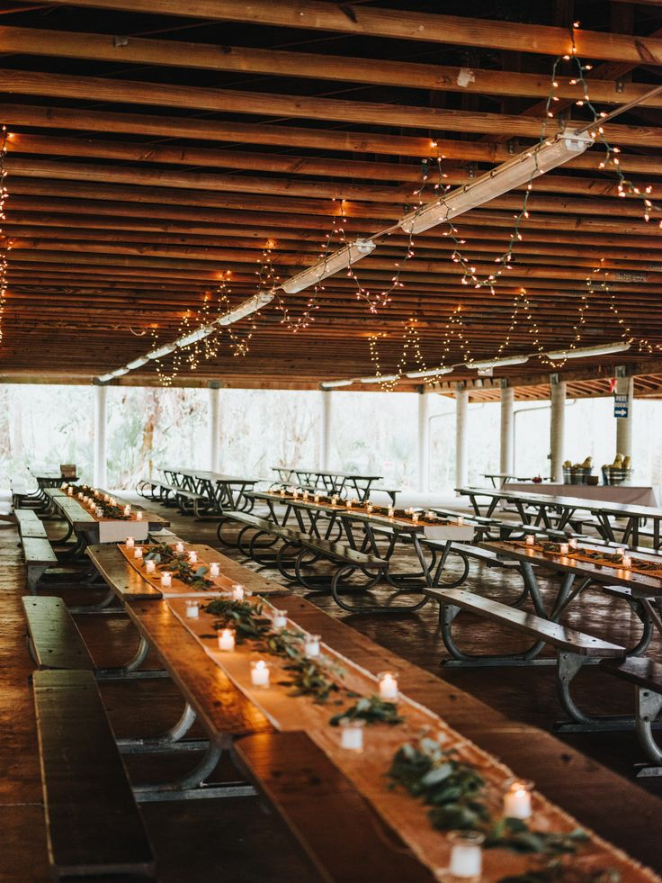 Public Park Pavilion Wedding Reception Long Rectangle