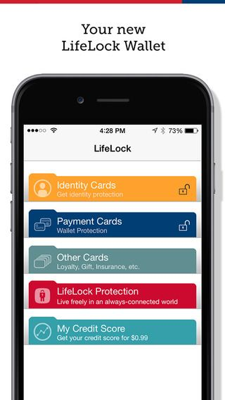 LifeLock Wallet store, Card wallet, Identity protection