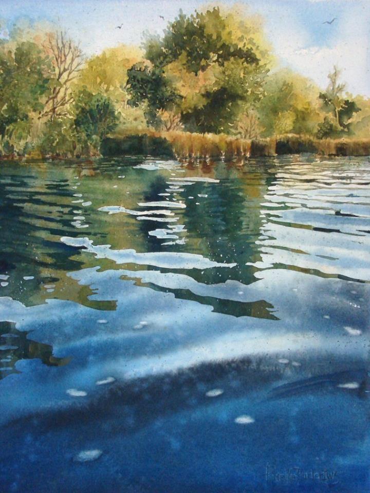 """.IWS-Mitglied Anita K. Plucker ist eine von 121 Künstlern, die für den jüngsten Aquarellwettbewerb """"Splash"""" von North Light Book ausgewählt wurden"""