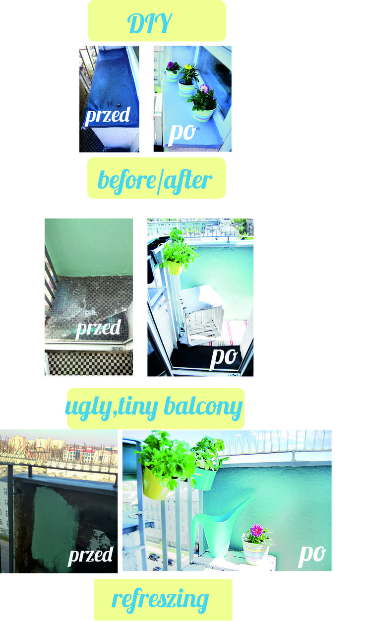 You think there is nothing to do with Your small balcony? Well, check my small balcony, it is less than one square meter and I had arrange there herbarium, place for coffee on wood box with pillow. More picture on my blog :)