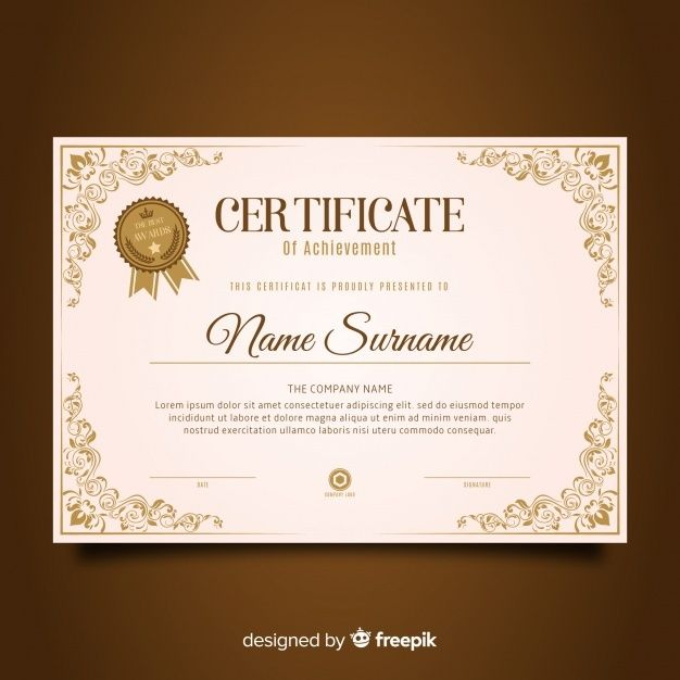Download Retro Certificate Template For Free In 2020 Certificate Templates Certificate Design Template Certificate Of Achievement Template