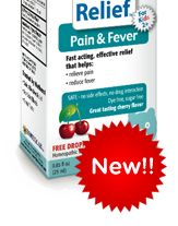Natural pain & fever reducer. Flu Relief Oral Solution. Fantastic results you can trust!!!