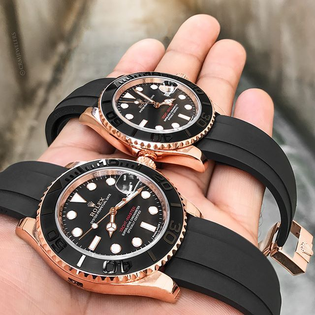 Rolex Yacht,Master Rose Gold With Black Rubber? $20500