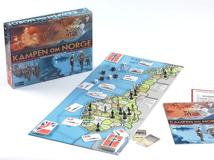 Kampen om Norge board game ‹ Eivind Vetlesen : Graphic Design & Illustration