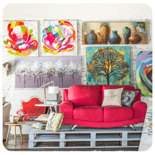 #DecoBazar #Deco #Bazar #Decoración #Homy #Sofa #Sofá #Red #Rojo #Cuadro #Canvas #Color #Colorful #Living #idea #Inspiración #Inspiration #Lamp #Lámpara #