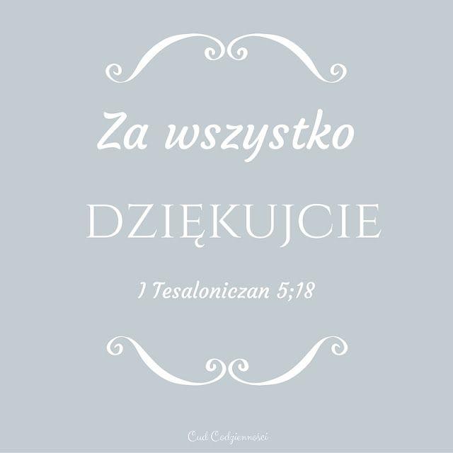 Werset Biblijny 'Za wszystko dziękujcie' 1 Tesaloniczan