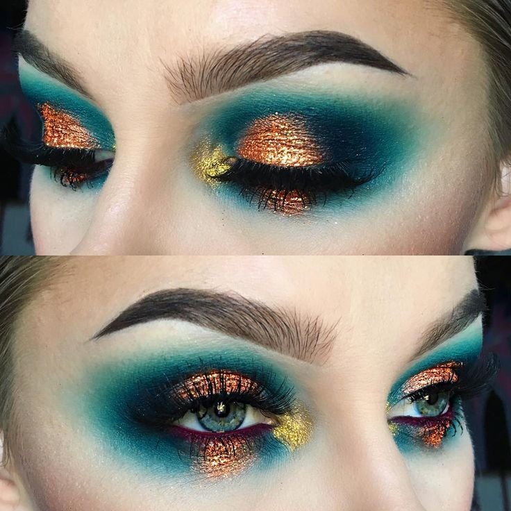 """""""Primer: @benefitcosmetics Air Patrol and @suvabeauty Hydra Cream in Stencil Shadows: @starcrushedminerals A Spot Of Teal, Siren, and Teal Appeal, and…"""""""
