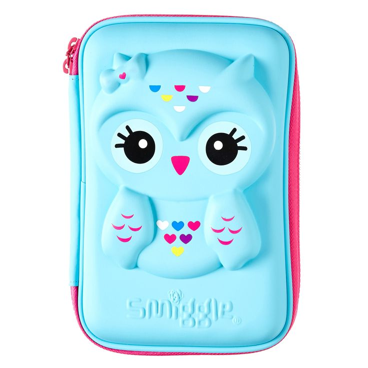 Owl Hardtop Pencil Case | Smiggle I love this pencil case because it has a super cute owl on it and I love it so so much.