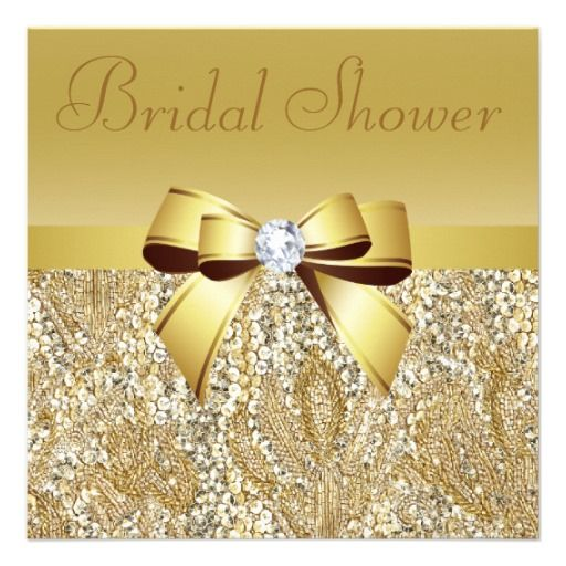 De 12 beste bildene om royal ball p pinterest see moregold sequins bow diamond bridal shower custom announcementswe provide you all shopping site stopboris Image collections