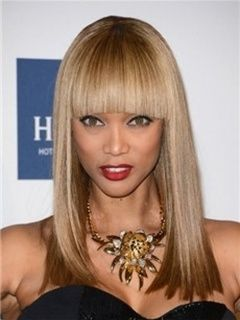 100%Human Hair Extension about 15inches Straight Tyra Banks Hairstyle Top Quality Item # W6876  Original Price: $220.00 Latest Price: $75.09