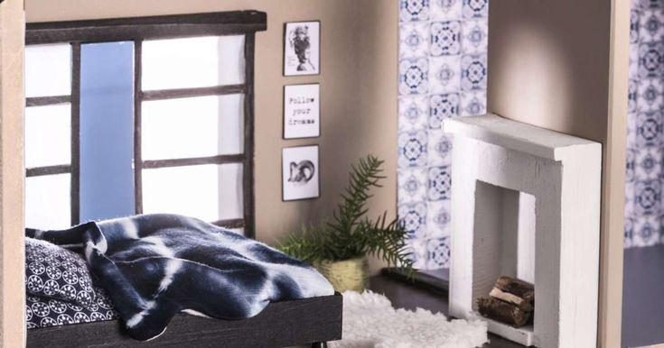 Askartele nukkekotiin soma takka. Takkapuut on helppo katkoa kuivasta oksasta. Katso Unelmien Talo&Kodin ohje!