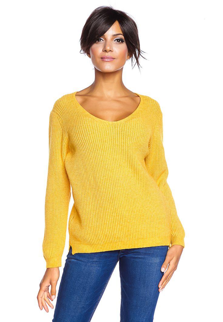 die besten 25 pullover damen gelb ideen auf pinterest. Black Bedroom Furniture Sets. Home Design Ideas