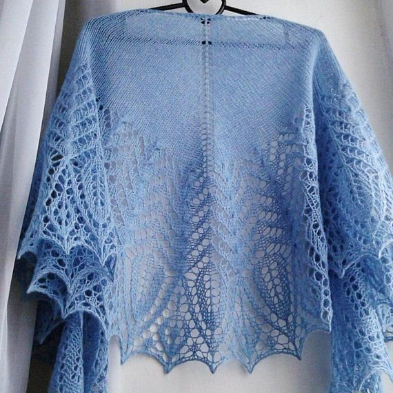 Pattern for Knitting Bekhar Shawl. Instant download PDF file.