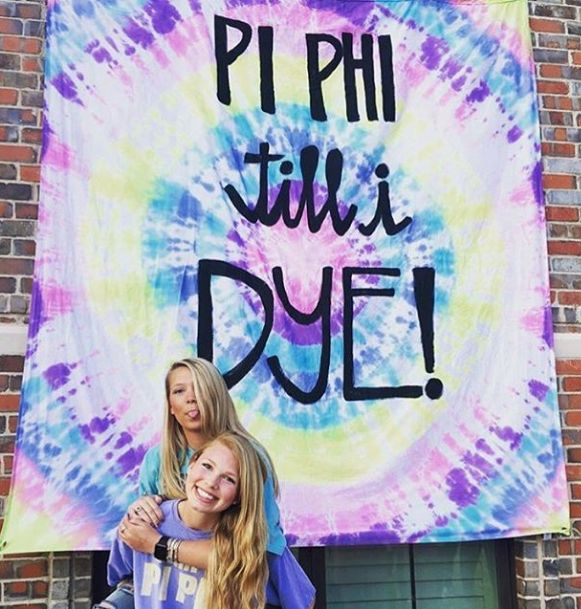 TIE DYE sisterhood social ☮ Xi Till We Dye; tie dye rush night?