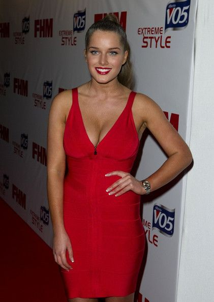 Helen Flanagan Lookbook: Helen Flanagan wearing Cocktail Dress (4 of 9). Helen Flanagan strutted her stuff at the FHM Sexiest Women in the World Awards in a skintight red dress.