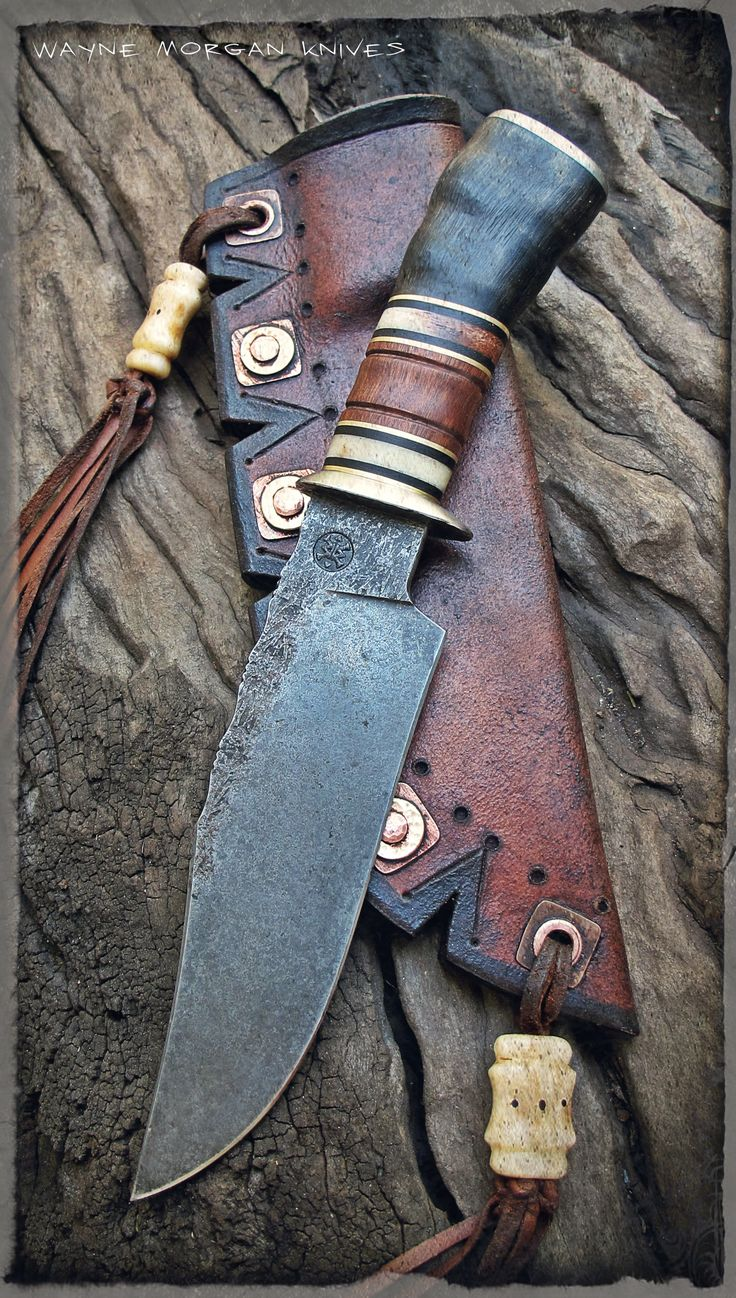 Wayne Morgan Knives. Love that sheath.