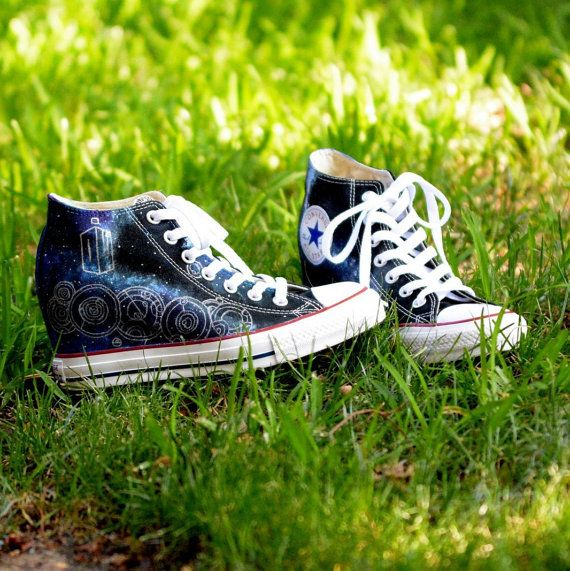 Custom Doctor Who Converse All Stars by EmmaCatsCreations on Etsy