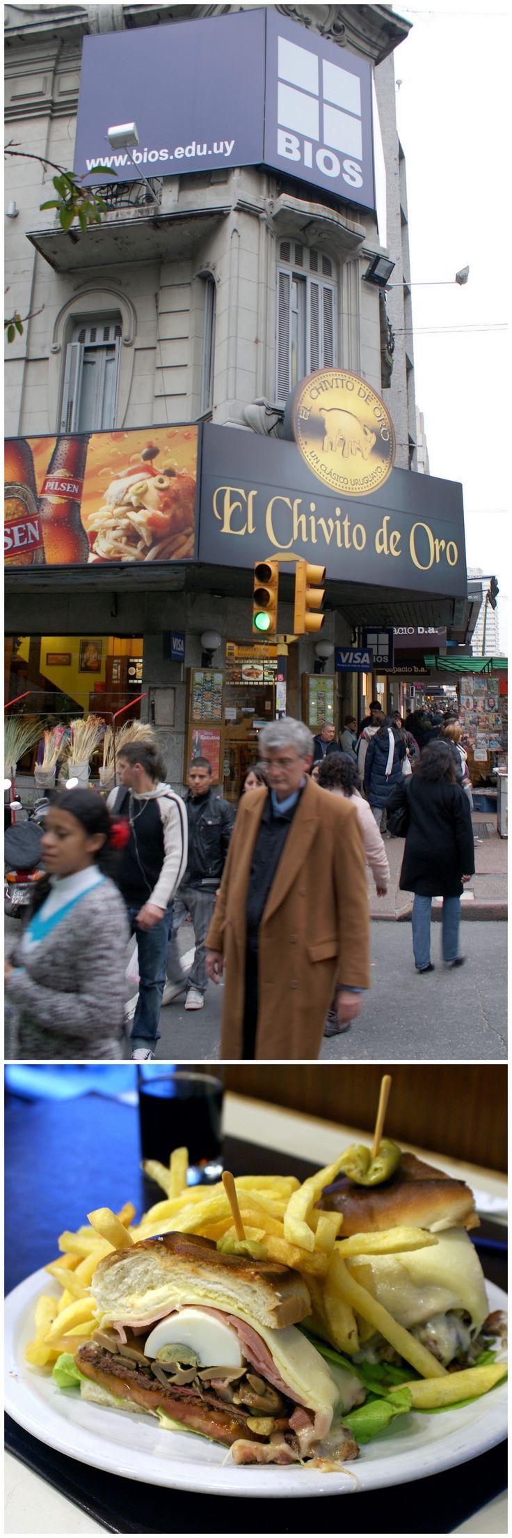 El Chivito de Oro... best chivito in Uruguay...  18 de Julio 1251 esq. Yi  Centro  Montevideo - Uruguay