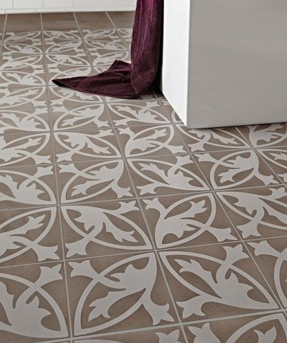 Camden Grey Floral Lys Encaustic From Topps Tiles