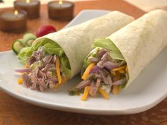 Make Life Easy with this Tortilla Roll with Tuna Salad, Shredded Lettuce and Cheddar recipe! LIKE us at https://www.facebook.com/goldseal #cannedtuna #nodraintuna #easyrecipes