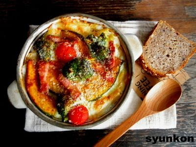 【簡単!!】フライパン1つで*野菜とベーコンのマカロニグラタンと、レシピブログmagazine