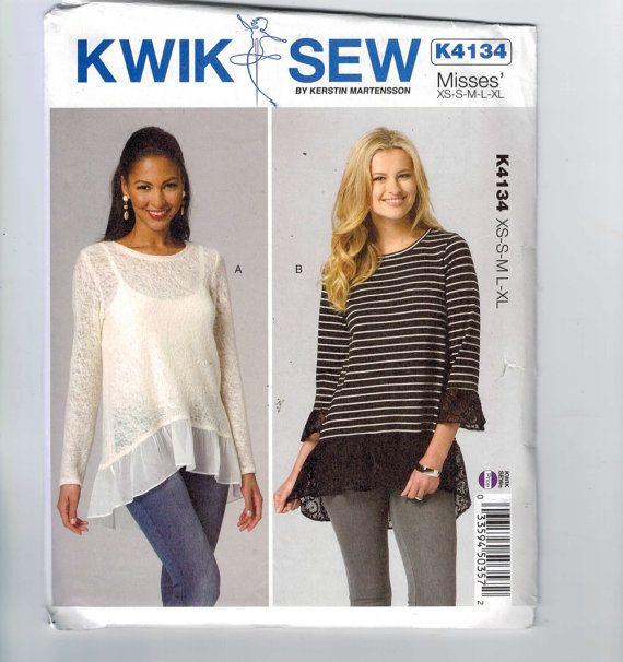 Misses Sewing Pattern Kwik Sew K4134 4134 by historicallypatterns