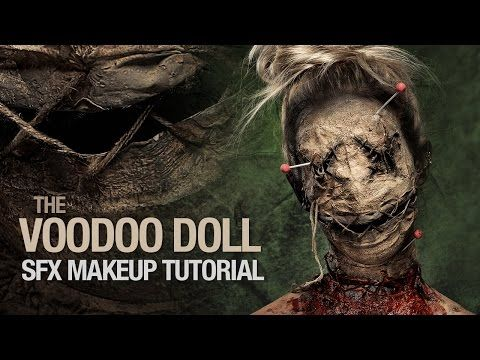 Voodoo doll special fx makeup tutorial - YouTube holy shit balls have to try this for this year