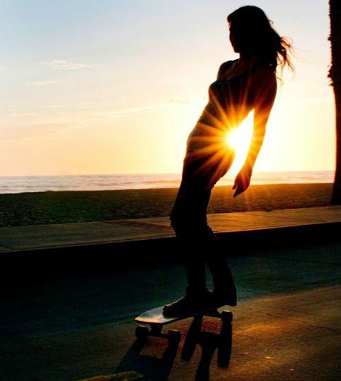Skatergirl #sunset #skate