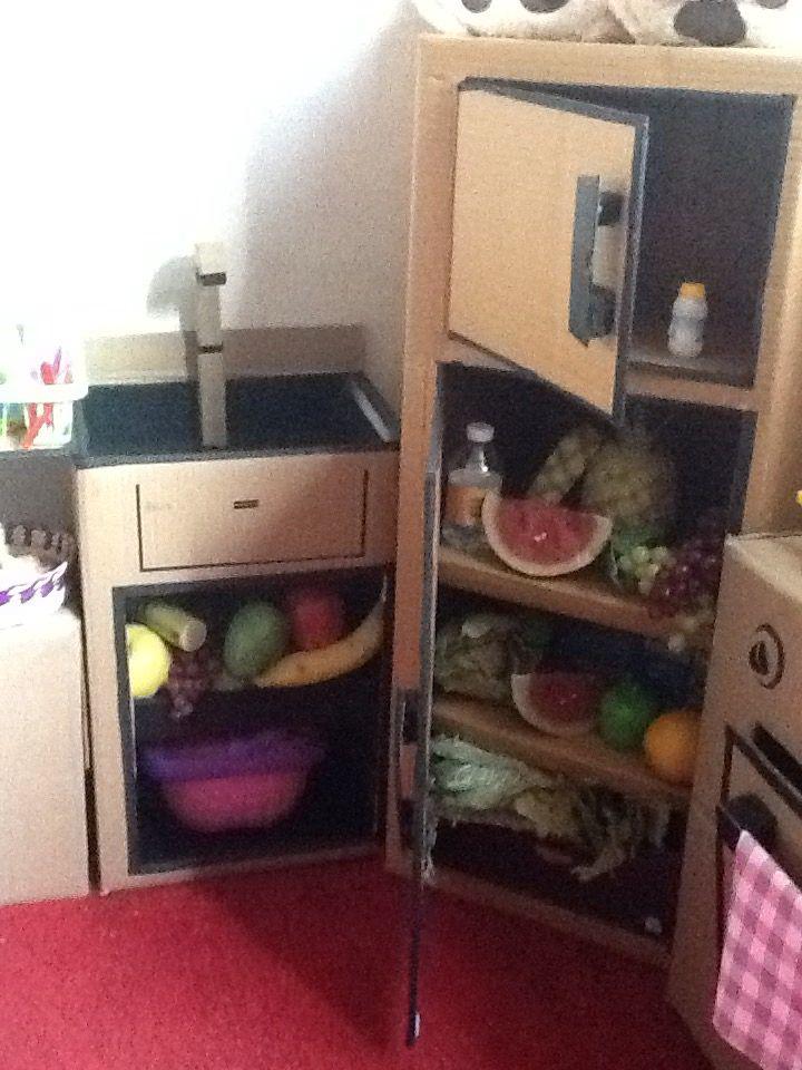 Refrigerador cocina de cart n pinterest refrigerador for Como hacer una cocina de carton